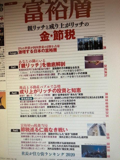 週刊ダイヤモンド目次
